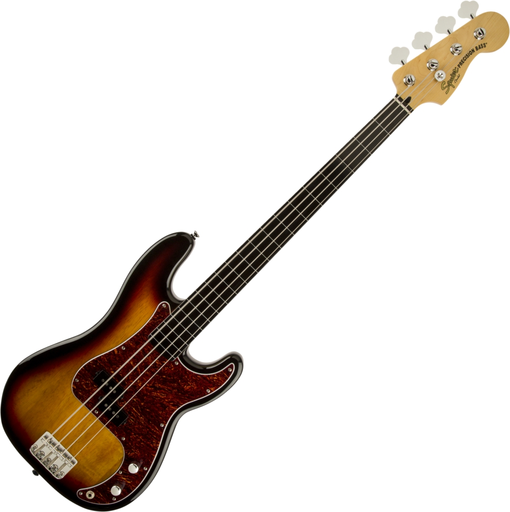 SQUIER VINTAGE MODIFIED PRECISION BASS FRETLESS 3CS