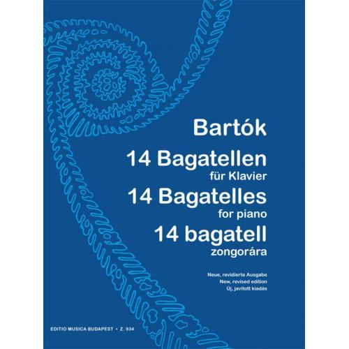 BARTÓK BÉLA 14 BAGATELL ZONGORÁRA