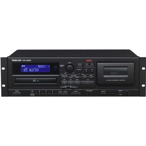 TASCAM CD-A580 CD/USB/MP3/KAZETTA LEJÁTSZÓ RCA KIMENETTEL