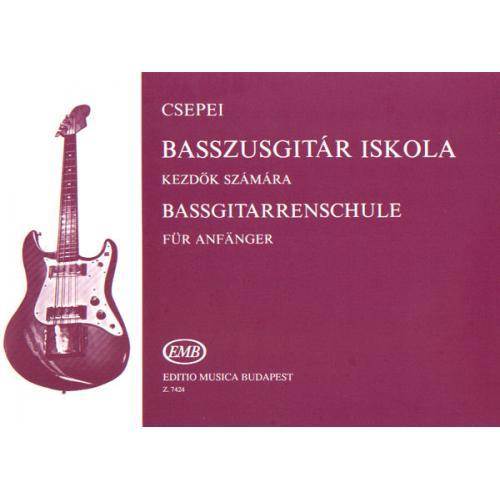 Z.7424 Csepei Tibor Basszusgitár-iskola 1 kezdők számára